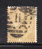 90 490 - GRAN BRETAGNA 1865 , Unificato 9 P. N. 30 Usato Tav 4 (M2200) Fil Fiori Araldici - Gebraucht
