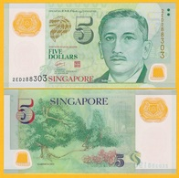 Singapore 5 Dollars P-47a 2007 (without Symbol On Back) UNC Polymer Banknote - Singapore