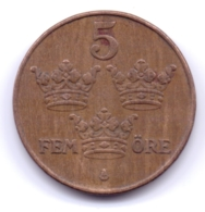 SVERIGE 1942: 5 Öre, Bronze, KM 779 - Zweden