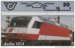 """Telefonkarte Österreich Lokomotive E- Lok Reihe 1014"""" ANK 92 Nr. 400A - Austria"""