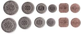 Suriname - Set 6 Coins 1 5 10 25 100 250 Cent 1988 - 2015 UNC / AUNC Lemberg-Zp - Suriname 1975 - ...