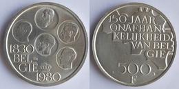 Belgium 500 Francs 1980 KM # 162a Independence /BELGIË/ - 11. 500 Francs