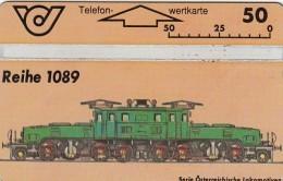 Telefonkarte Österreich Lokomotive- E-LOK Reihe 1089  ANK 88/400A - Austria
