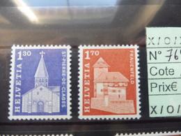 Suisse Serie 764/65 Neuf **  Monument - Suisse