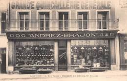 """88 Saint DIE - Magasin De Détail G.Q.G.""""ANDREZ-BRAJON"""" Quincaillerie Générale.Carte Avis De Passage. - Saint Die"""