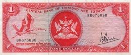 TRINIDAD & TOBAGO 1 DOLLAR 1977  P-30a XF+AUNC  SERIE BR 676898 - Trinidad & Tobago