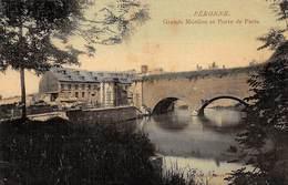 80 .n° 110334 . Peronne . Grands Moulins Et Porte De Paris .carte Postale Toilee . - Peronne