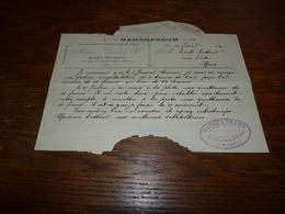 Document Brasserie Saint-Arnould Jemappes 1904 Spécialité De Bières En Bouteille La Nationale - Reclame