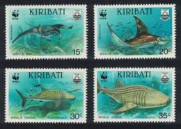 Kiribati WWF Whale Shark And Manta Ray 4v MNH SG#348-351 MI#566-569 SC#562-565 - Kiribati (1979-...)