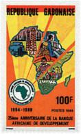 Ref. 41124 * NEW *  - GABON . 1989. 25th ANNIVERSARY OF THE AFRICAN DEVELOPMENT BANK. 25 ANIVERSARIO DEL BANCO AFRICANO - Gabón (1960-...)