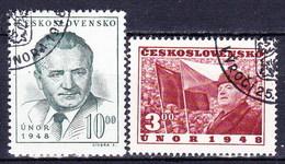 Tchécoslovaquie 1949 Mi 564-5 (Yv 488-9), Obliteré - Gebraucht