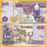 Zambia 5 Kwacha P-57 2018 UNC Banknote - Zambie