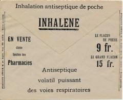Enveloppe CCP 1933 – Pub Inhalation Antiseptique – Vente En Pharmacies - Advertising