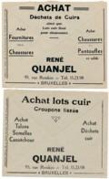2 Enveloppes CCP 1933 – Pub Achats Déchets De Cuirs, Achat Chaussures Et Pantoufles - Advertising