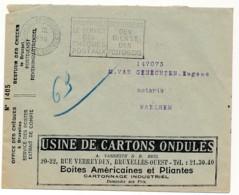 Enveloppe CCP 1933 – Pub Cartons Vanneste Brel, Jacques Brell – Verso Anti Mite Impermite Sac Hermétique - Advertising