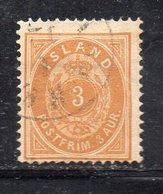 120 490 - ISLANDA 1882, Unificato  N. 12 Usato Dent 14x131/2  (M2200) - 1873-1918 Dipendenza Danese