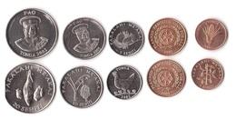 Tonga - Set 5 Coins 1 2 5 10 20 Seniti 2002 - 2005 UNC / AUNC Lemberg-Zp - Tonga