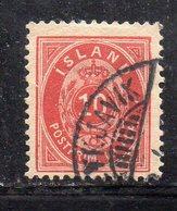 121 490 - ISLANDA 1876, 10 Aur Rosso Usato  (M2200) Mi Risulta Dentellato 13 (?) - 1873-1918 Dipendenza Danese