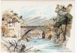 CPSM AQUARELLE Robert LEPINE VAISON LA ROMAINE  Pont Romain Et Le Ventoux - Illustrators & Photographers