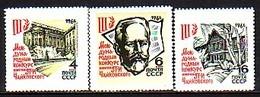 RUSSIA - UdSSR - 1966 - Chaikovsky - 1v** Mi 3218/20 - Unused Stamps