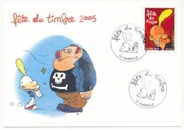 France - Carte Fédérale - Fête Du Timbre 2005 - TITEUF - Oblit. Marseille 26/02/2005 - Francia