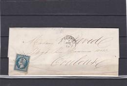 MAZAMET  ( TARN  )  PC 1943   -  LAC + NAPOLEON N° 14B   Pour TOULOUSE  -  1 JUILLET 1861 - REF 13712 - 1849-1876: Période Classique