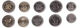 Uganda - Set 5 Coins 50 100 200 500 1000 Shillings 2012 - 2019 UNC Lemberg-Zp - Uganda