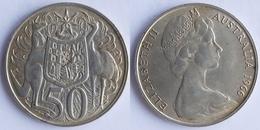 Australia  50cents,1966 Queen Elizabeth II (1952 Date) - Decimal Coinage (1966-...)