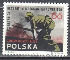 Poland 1966 -Polish  Brigade In The Spanish Civil War. - Mi 1717 - Used - 1944-.... Republiek