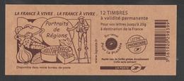 """Timbre - Carnet Usage Courant - N°4197- C1 -Type Marianne De Beaujard - Pour Guichet - """"La France à Vivre """" 12T - Carnets"""