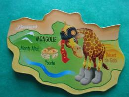 Magnet Savane Brossard Mongolie Mongolia Monts Altaï Désert De Gobi Yourte Girafe Giraffe Jirafa Giraffa Zyrafa - Tourisme