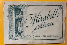 12588 -   Mirabelle D'Alsace Ch.Zimmer Brumath  Ancienne étiquette - Etiketten
