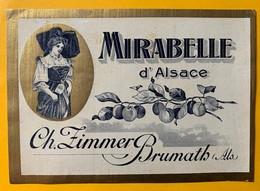 12589 -   Mirabelle D'Alsace Ch.Zimmer Brumath  Ancienne étiquette - Etiketten