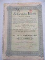 Automobiles Imperia - Nessonvaux - Action Ordinaire - Automobile