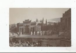 BEZIERS (HERAULT) CARTE PHOTO SCENE THEATRALE AUX ARENES - Beziers