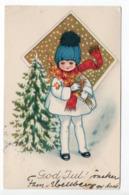 Mini AK - SWEDEN - CHRISTMAS  - 1926 - GIRL - FLOWERS - CINDERELLA / LABEL / VIGNETTE - Non Classificati