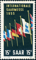 Ref. 169111 * HINGED *  - GERMANY. Sarre . 1955. 3rd INTERNATIONAL TRADE FAIR. 3 FERIA INTERNACIONAL - Sarre