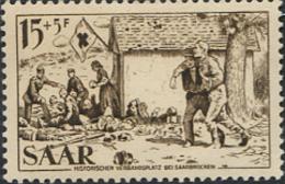 Ref. 262117 * HINGED *  - GERMANY. Sarre . 1956. RED CROSS. CRUZ ROJA - Sarre