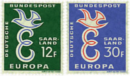 Ref. 262170 * HINGED *  - GERMANY. Sarre . 1958. EUROPA CEPT. IN THE SERVICE OF THE EUROPEANIST IDEA. EUROPA CEPT. AL SE - Sarre