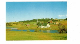 NEW GLASGOW, Prince Edward Island , Canada,  View With Church, Old Chrome Postcard - Ile Du Prince-Édouard