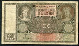 Netherlands  -  100 Gulden 1930 I 'Luitspelende Vrouw' / AK 1931 - See The 2 Scans For Condition.(Originalscan ) - [1] …-1815 : Ante Regno