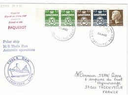 Thala Dan Antarctic Cover 1982 Paquebot Posted At Sea Casey - Briefe U. Dokumente