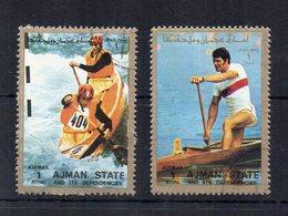 AJMAN - 1973 - Sport- Canoa - 2 Valori - Usati - (FDC20778) - Ajman