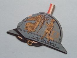 RECONNAISSANCE Aux POILUS - 2 Aout 1914-1919 Cinq Ans Après > Insigne En Carton ( Voir / Zie Photo Pour Detail ) ! - 1914-18