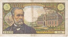 BILLETE DE FRANCIA DE 5 FRANCS DEL 4-11-1966  (BANKNOTE) PASTEUR - 1962-1997 ''Francs''