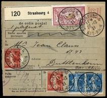 1921, Frankreich, 117 (2), 119 (2) U. 98, Brief - France
