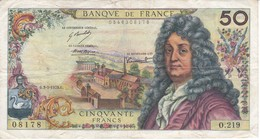 BILLETE DE FRANCIA DE 50 FRANCOS DEL 3-5-1973 RACINE  (BANKNOTE) - 1962-1997 ''Francs''