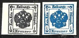157 - AUSTRIA - AUTRICHE - 1850 - FORGERIES, FALSES, FAKES, FAUX, FALSOS, FALSCHEN - Briefmarken