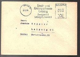 1956 Leipzig Kreissparkasse Zweigstelle 2 > Jaochim Käppler Chriiistiianstrasse (Bu14-16b) - Brieven En Documenten