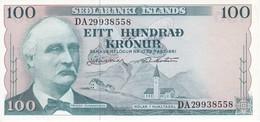 BILLETE DE ISLANDIA DE 100 KRONUR DEL AÑO 1961 SIN CIRCULAR-UNCIRCULATED  (BANKNOTE) - Island